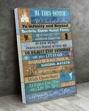 Disney In This House We Love Each Other To Infinity and Beyond Canvas .75in Us