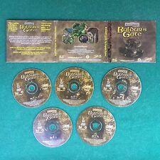 (PC GAME) BALDUR'S GATE FORGOTTEN REALMS Box 5 DISCHI (1998) CD Rom Fantasy