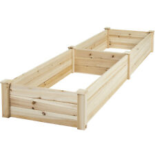 Wooden Raised Garden Bed Vegetable Flower Planter Box Outdoor Patio Gardening