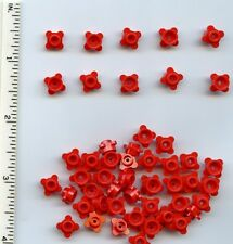 LEGO x 50 Red Plate, Round 1 x 1 with Flower Edge (4 Knobs) plant