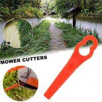 KQ_ 100 Gourd Shape Mower Blades Lawnmower Grass Cutter Trimmer Replacement Dura