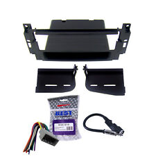 Radio Replacement Dash Mount Install Kit Single Din w/Harness & Antenna
