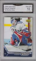 GMA 10 Gem Mint HENRIK LUNDQVIST 2005/06 UPPER DECK ROOKIE Card RANGERS!