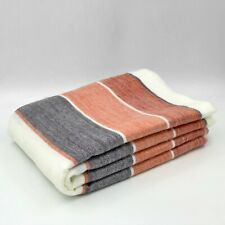 Soft and Warm Alpaca Wool Blanket sofa couch throw striped queen bed cover