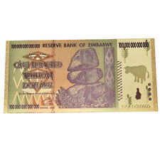 1pc Zimbabwe Gold Foil Banknote Paper Money Non Currency Collection Gifts  IN