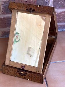 Vintage Vanity Shaving Mirror Box