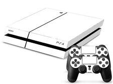 SONY PS4 PlayStation 4 SKIN Design Adesivo Pellicola Protettiva Set - WHITE PURE