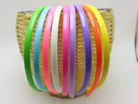 10 Mixed Bubblegum Color Plastic Headband Hair Band 8mm With Teeth