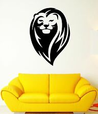 Wall Decal Lion King Mane Wild Cat Head Beautiful Animal Vinyl Stickers (ed237)