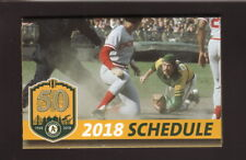 Oakland Athletics--2018 Pocket Schedule--KRKC--Gene Tenace