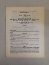 1928 Trans-Continental Passenger Association T.C.P.A-Circular 39 Railroad Tariff