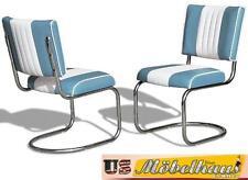 CO-27 Blue Bel Air Möbel 2 Stühle Swingstuhl Diner Küchenmöbel Küchenstuhl USA
