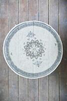 Nostalgie Vintage Teppich Läufer Dusty Flower Ø120 cm Jeanne d´Arc living NEU