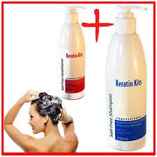 Keratin Shampoo and Conditioner Brazilian Treatment Aftercare Kit Salt Free