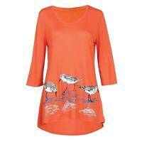 MCCC Sportswear Women's Sandpipers Tunic Top-Silkscreened Birds 3/4 Sleeve Shirt