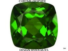 CHROME DIOPSIDE 6 MM CUSHION CUT OUTSTANDING GREEN COLOR ALL NATURAL
