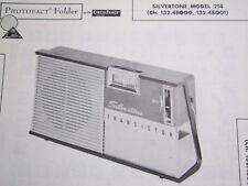 SILVERTONE 214 TRANSISTOR RADIO PHOTOFACT