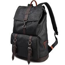 Men Leather Backpack School Bag For Teenagers Leather Travel Bag Backpack 150005