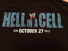 2013 Hell in a Cell T-Shirt XL WWE Crew Daniel Bryan WWF Randy Orton NXT AJ Lee