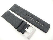 Herren Uhrenarmband Echtleder 26 mm Schwarz für DIESEL Uhren DZ 1055 4320
