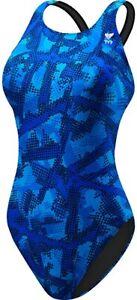 TYR Laies Blue Vesuvius Maxfit Swimming Costume