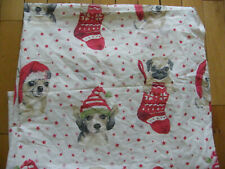 SINGLE CHRISTMAS DUVET COVER DOGS PUGS IN STOCKINGS GEORGE VERY CUTE