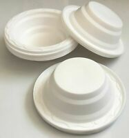 50 pack White Plastic 500ml Party Disposable Dessert Soup Bowls Party UK 1149