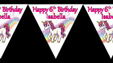 Unicorn Personalised Birthday Party Decoration Bunting Banner 1st 3rd 6th 5th