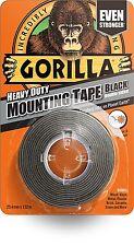GORILLA GLUE 1.5 m Heavy Duty Double Sided Waterproof Mounting Tape - BLACK