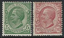 1906 Italia Regno VE III 15c verde+10c rosso SL(MNH) Cat Sass n 81/82 € 15,00