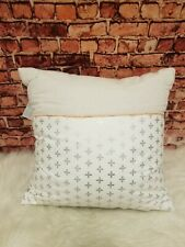 Martha Stewart Collection Colorblocked Quatrefoil Stamp 18'' Decorative Pillow
