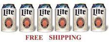 Miller Lite Throwback 6 Beer Can Coolers Koozie Coolie Huggie Coozie New