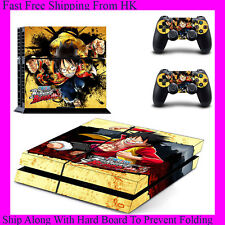 One Piece Burning Blood Decal Stickers Sony PS4 Concole + 2 Controllers GYTM0425