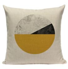 Yellow Circle Pattern YG6 Cushion Pillow Cover European Design Stylish Modern