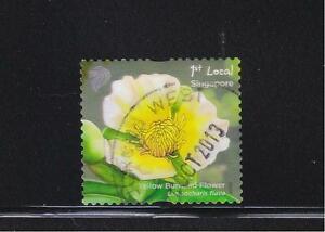SINGAPORE 2012 POND LIFE 1ST LOCAL YELLOW BURHEAD FLOWER 1ST REPRINT 2012B USED