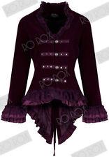 Button Coats & Jackets Velvet Steampunk for Women