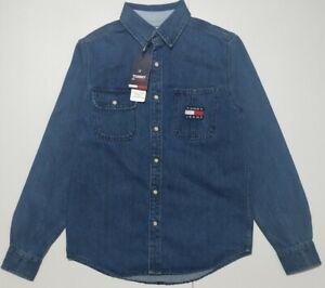 TOMMY HILFIGER, Men's Comfort Fit Tommy BADGE, Denim Shirt In Dark Wash Indigio
