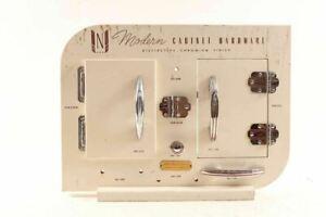 Vintage Mid Century Modern Cabinet Hardware Store Display
