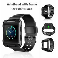 Replacement Black Armor Wristband Watch Band Strap Frame For Fitbit Blaze