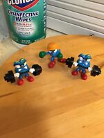 1995 Vintage 1996 Atlanta Olympic Mascot Izzy Lot Of 3 Figures Weights Boxing