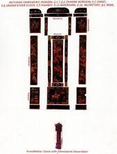 1:24 scale Natasha Beshenkovsky's Mini Decoupage~Chinoiserie GRANDFATHER CLOCK