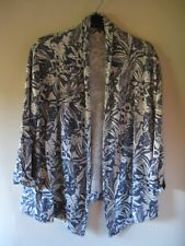 Monsoon mixed fibre blue/grey and off white stretchy jacket. New no tags. Size M