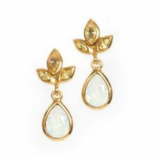 Jay Strongwater Pear Drop Post Earrings Swarovski Crystal Brand New