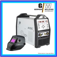 Set: Saldatrice AC/DC WIG o251 pulsazioni M. plasma ALU inverter tig elettrodo MMA
