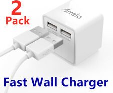 2 Pack USB Wall Charger USB Fast Charger Power Adapter For Phone iPhone Samsung