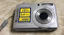 SONY DSC-S700 CyberShot Digital Camera 7.2-MP SILVER 3x Zoom 2.4