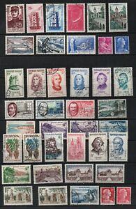 FRANKREICH,FRANCE ,1957 ,SCHÖNES LOT aus MI 1121-1168 UNGEBRAUCHT/GESTEMPELT