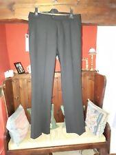 """Bnwt Full Circle Woolblend Black Straight Leg Trousers W34""""l32""""  Rrp£80"""