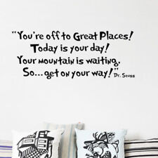 Seuss You are off to Great Places Vinyl Art Words Wall Sticker Decals Decor W81