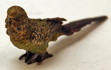 ANTIKE BRONZE TIER FIGUR VIENNA BERGMANN VOGEL WELLENSITTICH BIRD BUDGIE UM 1900
